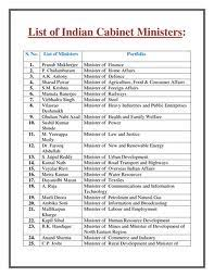 Tamilnadu Council Of Ministers 2012 Names Of Central Cabinet Minister S Names With They Specific