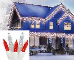 set of 70 and cool white led m5 icicle lights