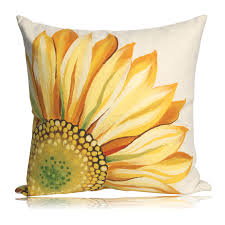 pillow by liora manne sunflower pillows