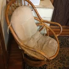 Rattan Swivel Rocker Cushions Vintage Bamboo Rattan Swivel Rocker Rocking Chair With Cushion