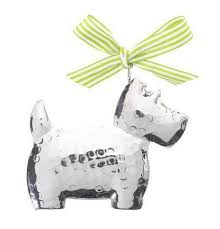 buy silver westie tree decoration from our all