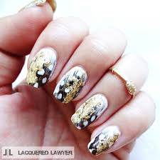 lacquered lawyer nail art blog gilded feathers