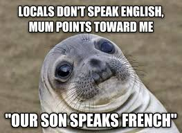Speak English Meme - livememe com uncomfortable situation seal
