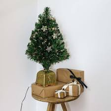 4ft artificial fibre optic table top christmas tree with star