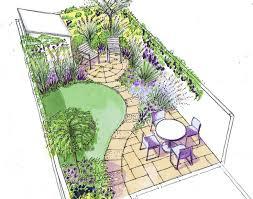 Landscape Gardening Ideas For Small Gardens Landscape Design Garden Extraordinary Decor Small Narrow Backyard