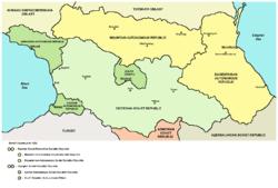 south ossetia map south ossetian autonomous oblast