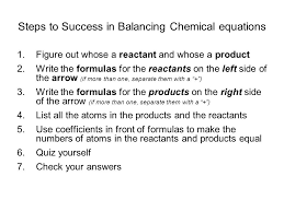 balancing chemical reactions ppt video online download