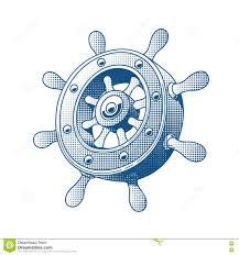 ship wheel marine tattoo stock vector image of vector 74367576