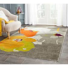 Grey And Orange Rug Safavieh Porcello Light Grey Orange 9 Ft X 12 Ft Area Rug