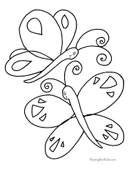 free butterfly coloring sheet