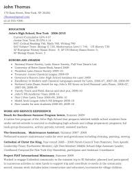 Best Resume Examples For Highschool Students by College Resume Examples For High Seniors Resume For Your