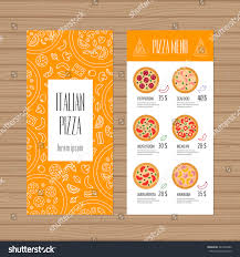 pizza menu design leaflet flyer layout stock vector 387463492
