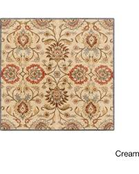 Off White Rug Get The Deal Hand Tufted Patchway Wool Rug 9 U00279 Square Cream