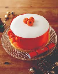 Christmas Cake Decorations With Fruit by Marzipan Fruit Decorated Cake Food Heaven