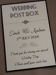 wedding photo box handmade personalised vintage style portrait wedding post box