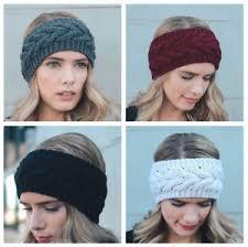 crochet headband women crochet headband knit flower hairband ear warmer winter