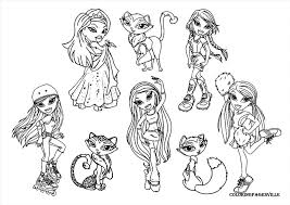 Free Bratz Coloring Pages 1023 1015 High Definition Coloring Bratz Coloring Pages