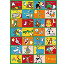 Colorful Kids Rugs by Kids Rug Abc Animals Area Rug 39