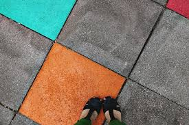 Can You Paint Patio Pavers Elsie S Painted Patio Tiles A Beautiful Mess