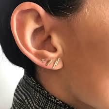 gold bar stud earrings 14k gold bar stud earrings zoe lev jewelry
