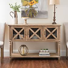 Kirklands Console Table Wood And Glass Barn Door Console Table Glass Barn Doors Barn