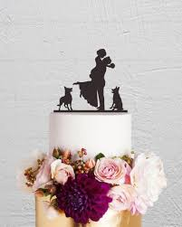 cake topper with dog wedding cake topper and groom cake topper with dog