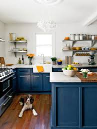 blue kitchen cabinets with copper hardware kitchen trend painted cabinets and brass hardware