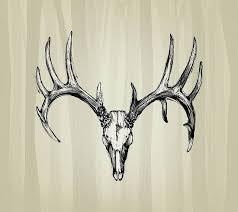 sugar skull tattoo indian antlers deer head ink pot pinterest