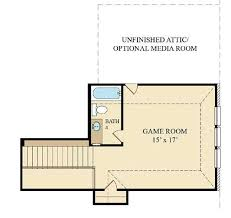 Game Room Floor Plans Ruby New Home Plan In Tavola Texas Reserve Collection By Lennar