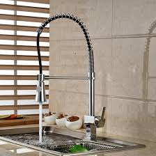 online cheap modern chrome brass kitchen faucet single handle hole