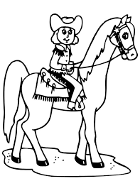 cowgirl riding horse colouring cowgirl riding horse
