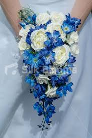 Blue Wedding Bouquets Shop Lovely Ivory Rose Bridesmaid Bouquet Wedding Flowers Royal
