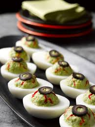 last minute halloween recipe deviled eyeballs la cocina de leslie