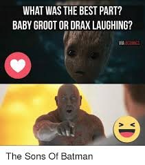 Laughing Baby Meme - what was the best part baby groot or drax laughing via 8comics the