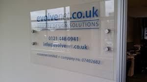 acrylic wall plaque with vinyl lettering big print birmingham
