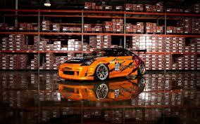 Nissan 350z Orange - cars vehicles nissan 350z orange cars wallpaper 1680x1050