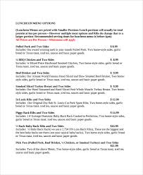 sample catering quote 6 documents in pdf word