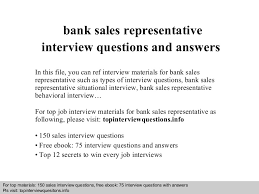 resume sles for accounting clerk interview questions banksalesrepresentativeinterviewquestionsandanswers 140817102617 phpapp01 thumbnail 4 jpg cb 1408277816