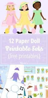 12 paper doll printable sets free printables tip junkie