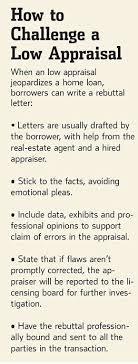 Appraisal Rebuttal Letter when the bank says no draft a rebuttal wsj