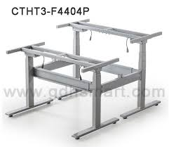 Smart Office Desk Back To Back Metal Frame Simple Adjustable Height Tables Electric
