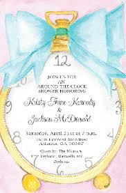 around the clock bridal shower around the clock