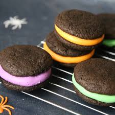 halloween whoopie pies soft chocolate sandwich cookies it u0027s