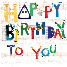 happy birthday musical cards musical notes happy birthday to you