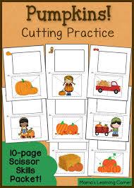 cutting practice worksheets pumpkins mamas learning corner