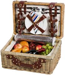 picnic gift basket beyond terazzo willow picnic basket with ceramic plates service