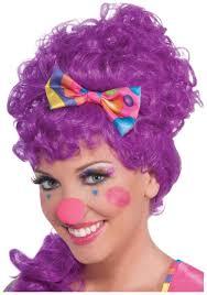 ladies clown halloween costumes pink clown nose