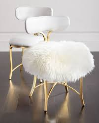 cynthia rowley for hooker furniture swanson sheepskin side chair