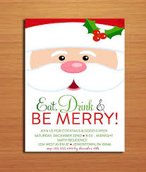 christmas brunch invitations santa customized printable christmas party invitations