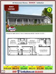 stafford all american modular home ranch collection plan price